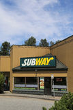 Subway. Fast food restaurant in coquitlam BC Canada Stock Photography
