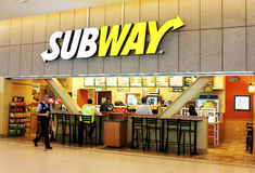 Subway fast food restaurant Royalty Free Stock Image