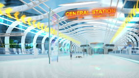 Subway of the future stock video footage