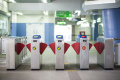 Subway gate Stock Image