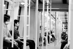 Subway in Guangzhou, China Royalty Free Stock Images
