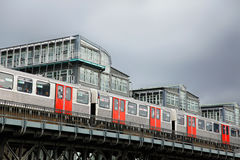 Subway in Hamburg. Over the streets Royalty Free Stock Images