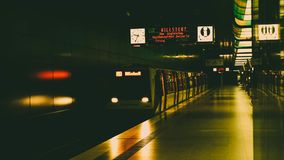 Subway - Hamburg. This picture was taken by myself. This the subway located in Hamburg Royalty Free Stock Photography
