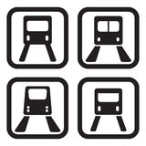 Subway icon in four variations.  Stock Images