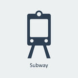 Subway icon. Silhouette vector icon. Royalty Free Stock Images