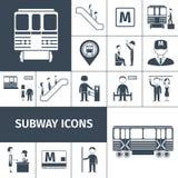 Subway Icons Black Stock Images