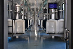Subway Interior. Interior of the subway car under day light. Taken in Istanbul / Turkey Stock Image