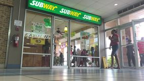 Subway joint in Grenada stock video footage