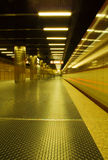 Subway leaving station Royalty Free Stock Photography