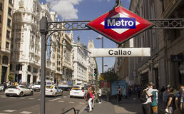 Subway of Madrid, Spain Stock Photos