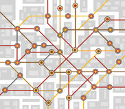 Subway map Royalty Free Stock Images