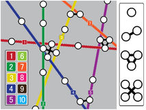 Subway map elements. Stock Image