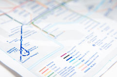 Subway map Royalty Free Stock Photography