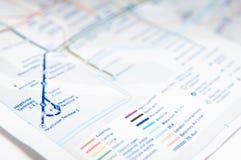Subway map Royalty Free Stock Photography