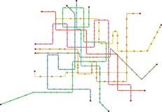 Subway map, public transportation map, vector illustration