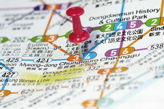 Subway map of Seoul Stock Images