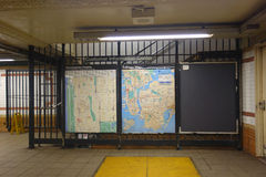 New York City Subway Maps Royalty Free Stock Photo