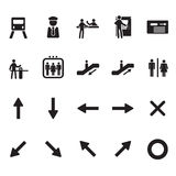 Subway and metro icons set.  Royalty Free Stock Images