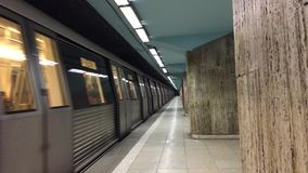 Subway metro leaving station stock video