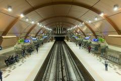Subway Metro station in Sofia, Bulgaria. Subway platform in Metro station in Sofia, Bulgaria stock photo