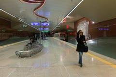 Subway Metro station in Sofia, Bulgaria. Subway platform in Metro station in Sofia, Bulgaria Royalty Free Stock Photos