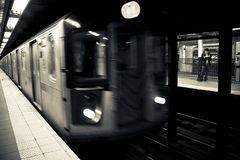 Subway in motion. Stock Images
