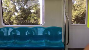 Subway in motion. Inside move stock video footage