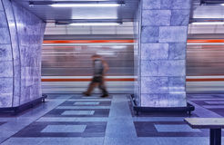 Subway in Motion Royalty Free Stock Photos
