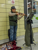 Subway Musician in Toronto Stock Photo