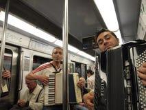 Subway musicians in Paris Metro Royalty Free Stock Photo
