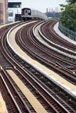 Subway N train royalty free stock photography
