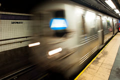 Subway in New York , motion blur Royalty Free Stock Images