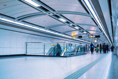 Subway passage in guangzhou. Subway passage with passengers motion blur in guangzhou Stock Photos