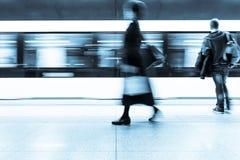 Subway passenger Stock Image