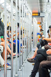 Subway  passengers Stock Images