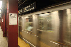 Subway Passing By Royalty Free Stock Photography