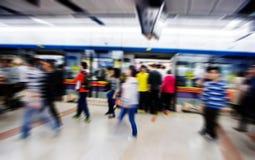 The subway platform dock,Business people activities Stock Photo