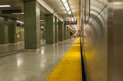 Subway platform Stock Images