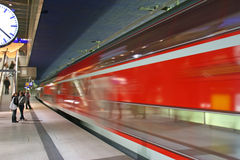 The subway in the Potsdamer Platz Stock Photos