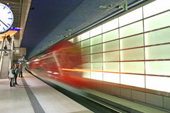 The subway in the Potsdamer Platz Royalty Free Stock Image