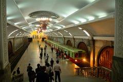 Subway, Pyongyang, North-Korea Stock Photos