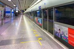 Subway Rail Station platform in Bangkok, Thailand Stock Photos