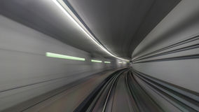 Subway rails in tunnel Royalty Free Stock Photos