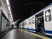 Underground metro station in Madrid Royalty Free Stock Photo