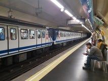 Underground metro station in Madrid Stock Images