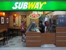 SUBWAY restaurant at Don Mueang International Airport royalty free stock image