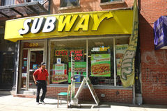 Subway Restaurant Stock Photo