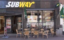 Subway restaurant Stock Image