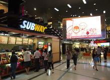 Subway Restaurants facade, Beijing,China Stock Photography