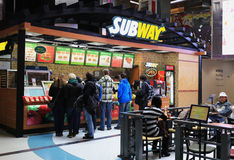 Subway Restaurants facade, Beijing,China Royalty Free Stock Photo